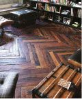 how awesome is this recycled wood floor?!?!?!