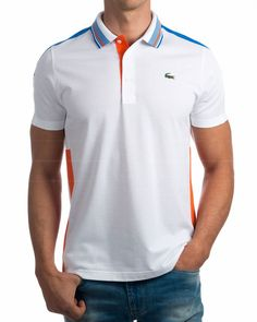 Lacoste polo, royal blue and white. Mens Polo T Shirts, Polo Tees, Sports Shirts, Polos Lacoste, Lacoste Sport, Camisa Polo, Polo Shirt Design, Summer Outfits Men, Tommy Hilfiger