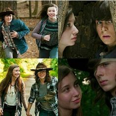 """Enid and Carl Grimes ● Season 5 Episode 15 and Season 7 Episode 5 ○ """"Try"""" and """"Go Getters"""" Chandler Riggs, Walking Dead Series, Fear The Walking Dead, Carl E Enid, Glenn Y Maggie, Dead Still, Katelyn Nacon, Dead King, Carl Grimes"""