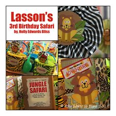 Jungle and Safari Themed Birthday and invitations.