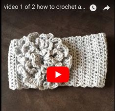 crochet video tutorial, how to crochet a headband with flower, how to crochet a flower