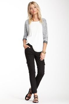 Willow & Clay Cargo Slim Pant. love this whole outfit