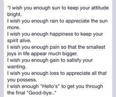 I wish you enough