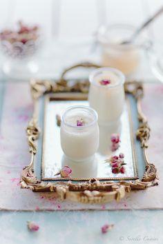 Rose yogurt with rosewater poached pears * Iogurte de Rosa com pêra escalfada em água de rosas  SuvelleCuisine.com