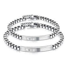 """LOVE"" Stainless Steel Personalized Bracelets For Women & Men #personalizedgift #fashion #giftideas #bracelet"