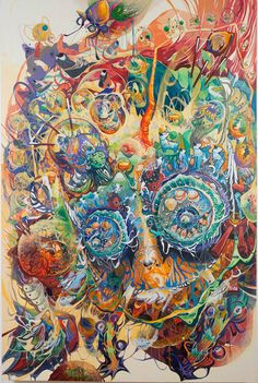 South Korean artist Mi Ju has come up with colorful and psychedelic paintings that reflect all her influences. Native American Totem, Cobra Art, Tattoo Photography, Colorful Paintings, Psychedelic Art, Art World, Asian Art, Fantasy Art, Street Art