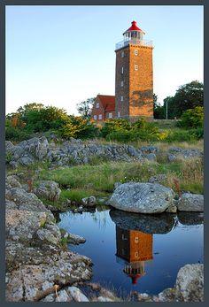 Lighthouse Svaneke, Bornholm, Denmark.