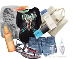 love this beach outfit, minus the earrings