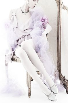 """Kati Nescher wears Nina Ricci in """"Luxurious Intimates"""" byWilly Vanderperre   Vogue China, Sept. 2013."""