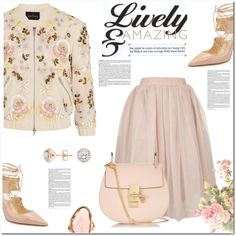 Lively & Amazing by christinacastro830 on Polyvore featuring Needle & Thread, Topshop, Jimmy Choo, Chloé and Mark Broumand