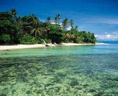 Las aguas de Cristóbal permiten una visibilidad de hasta veinte metros y acogen tortugas y barracudas.