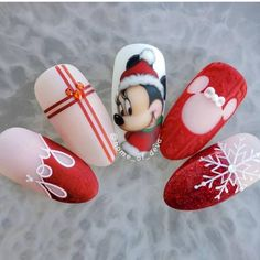 """""""your success is our reward"""" – Ugly Duckling Nails Inc. Beautiful nails by Ugly Duckling Ambassador Ugly Duckling Nails page is dedicated to promoting quality, inspirational nails created by International Nail Artists Disney Christmas Nails, Christmas Nail Art Designs, Xmas Nails, New Year's Nails, Nails Inc, Holiday Nails, Christmas Ideas, Christmas Pictures, Christmas Inspiration"""