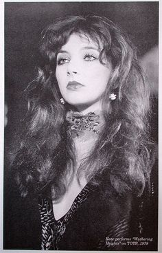 Kate Bush, performing 'Wuthering Heights' on Top of The Pops in 1978, here in Great Britain, when she was only 19 years of age. An indisputably beautiful, sensitive and sensual, powerful and brave, creative spirit.~