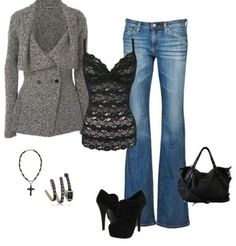 Learn Casual Fall Outfit ideas (but stylish) fashion little girls will certainly be dressing right away. casual fall outfits with jeans Fashion Mode, Moda Fashion, Fashion Outfits, Womens Fashion, Fashion Stores, Fashion Night, Lolita Fashion, Fashion Boots, Fashion Fashion