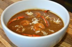 My favorite! Denicolas Gumbo with crab and shrimp.....add oysters too if you like. A real New Orleans dish!