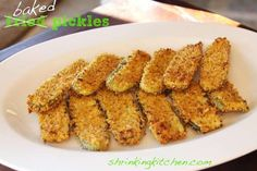 Baked {not fried!} Pickles