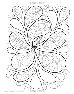 Peace Love Coloring Book Design Originals Thaneeya McArdle 9781574219630 Amazon