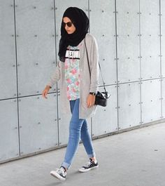 edgy hijab style