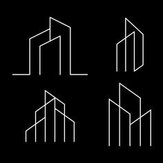 Real Estate Line Art Logo, City, Apartment, Sign PNG and Vector with Transparent. Architecture Symbols, Architecture Company, Architecture Portfolio, Construction Logo Design, Construction Business, Construction City, Arquitectura Logo, Icon Design, Web Design