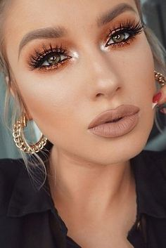Matte Lips and Copper Eyes