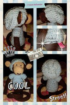 Affe * chimpanse * junge * monkey * Boy * gehäkelt * crochet * mit beanie   https://www.facebook.com/fraeuleinwollwunder