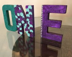 Mermaid one letters 8 inches one by Awesomepapercreation on Etsy