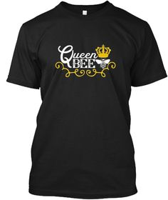 Queen Bee T Shirt With Crown Black T-Shirt Front