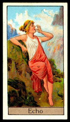 "Cigarette Card - Echo. ""Mythological Gods & Goddesses""."