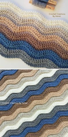 Sometimes one simple trick can make the whole project more interesting, so go for one loop only technique to create more depth in your ripple stitch! Crotchet Blanket, Crochet Ripple Blanket, Crochet Blanket Patterns, Crochet Stitches, Crochet Ideas, Yarn Color Combinations, Popular Crochet, Crochet Fall, Manta Crochet