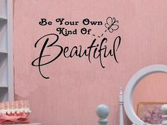 vinyl wall decal quote Be your own kind of por WallDecalsAndQuotes