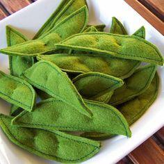 Felt Food Snow Peas also could be sugar peas !!!!!!#catbug