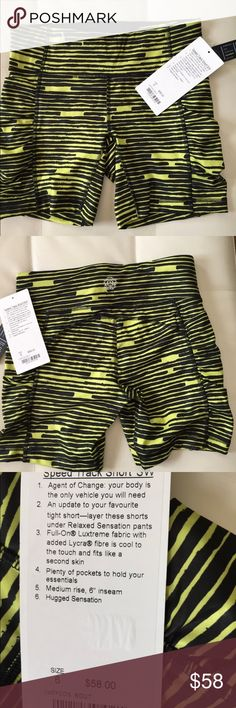 NWT BOUT LULULEMON SPEED TRACKER SHORTS - - Size 6 Brand: Lululemon Athletica speed tracker shorts           Condition: New with tag    Size 6    BOUT black yellow   📌NO  TRADES  🛑NO LOWBALL OFFERS  ⛔️NO RUDE COMMENTS  🚷NO MODELING  ☀️Please don't discuss prices in the comment box. Make a reasonable offer and I'll either counter, accept or decline.   I will try to respond to all inquiries in a timely manner. Please check out the rest of my closet, I have various brands. Some new with tag…
