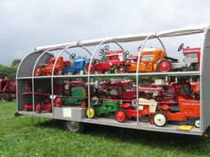 pedal tractor display