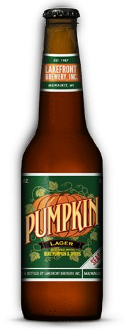 Lakefront Brewing offers one of the only pumpkin lagers available -- most pumpkin beers are ales. The resulting pumpkin spice flavor may be too much for some, but I find it a satisfying seasonal for football weather. 5.8% alcohol by volume.
