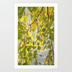 Birch Leaves 7165 Art Print by metamorphosa - $22.88