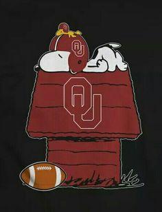 "Snoopy says ""Boomer Sooner! Alabama College Football, Oklahoma Sooners Football, Ou Football, Oregon Ducks Football, Notre Dame Football, University Of Oklahoma, American Football, Ohio, Ok Sooners"