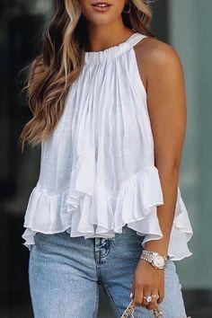 Chic Type, Trend Fashion, Women's Fashion, Fashion Design, Summer Outfits Women, Plus Size Blouses, Casual Tops, Casual Wear, Casual Shirt