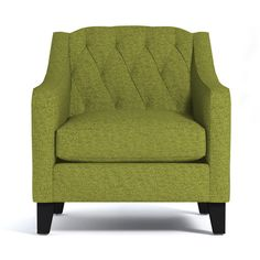 Apt2B Jackson Green Apple Chair ($988) ❤ liked on Polyvore featuring home, furniture, chairs, tufted furniture, swoop chair and tufted chair