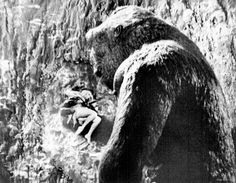 It was this certain scene from 1933's KING KONG that was banned for years because of the sexuality content that it was depicting. Rather tame in today's Hollywood but it the early 1930's a 50ft Ape peeling off the threads of a hot looking blonde with a unforgettable scream was a NO, NO.
