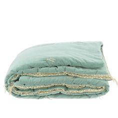 En-fil-dindienne - Duvet Plaid en velours Domino - 160x160 cm – Home Beddings and Curtains