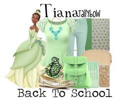 Tiana by tallybow on Polyvore featuring polyvore fashion style Jane Norman Ivanka Trump Grafea Effy Jewelry H&M Hadaki HAY poppin. Disney