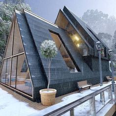 A Frame House Plans, A Frame Cabin, Barn House Plans, Cabins In The Woods, House In The Woods, Sustainable Architecture, Architecture Design, Pavilion Architecture, Residential Architecture