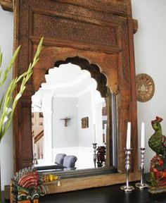 An India-influenced traditional and elegant dining area.
