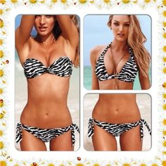 VS Perfect Coverage Halter Top & BOTTOM Halter Top Bikini Top, Removable Push Pad, underwire Cups, Ties at Neck; bottom Side Ties, Both priced for $90.00. Will price both for 49.00 Victoria's Secret Swim Bikinis