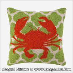 Shop Coastal Pillow at www.lalapatoot.com