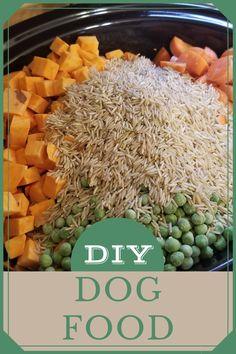 Easy Dog Treat Recipes, Homemade Dog Treats, Healthy Dog Treats, Homemade Food For Dogs, Pet Treats, Easy Recipes, Make Dog Food, Canned Dog Food, Pet Food