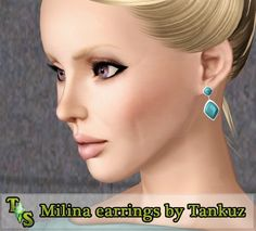 Milina earrings by Tankuz - Sims 3 Downloads CC Caboodle