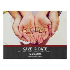 Save the Date Add Your Own Photo Wedding Postcard