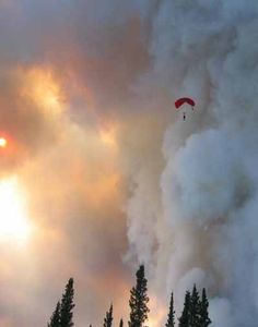 Smoke-jumper training is done outside of Missoula. Firefighter Emt, Wildland Firefighter, Volunteer Firefighter, Fire Dept, Fire Department, Real Fire, Wild Fire, Big Sky Country, Into The Fire