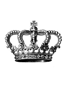 Crown logo old b&w